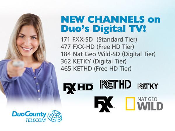 New Channels Added to Duo's Digital TV